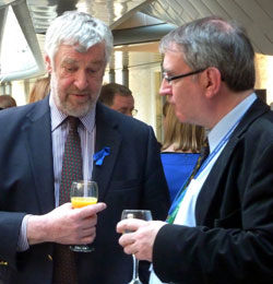 Alex Fergusson MSP with Dr Neil Abbot (ME Research UK)