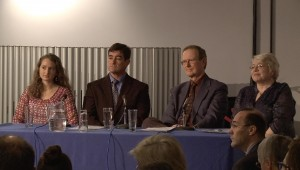 Erinna Bowman, Dr Mark VanNess, Dr Nigel Speight, and Sue Waddle during questions