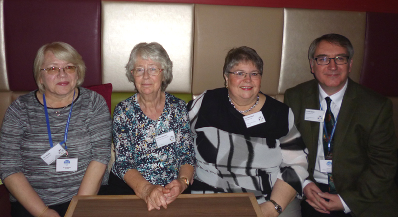 Sue Waddle and Dr Neil Abbot of ME Research UK, with old allies Dr Anne McIntyre and Eva Stormorken