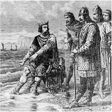 """Canute rebukes his courtiers"" by Alphonse-Marie-Adolphe de Neuville"