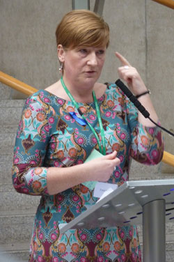 Presenter Jo Bluett