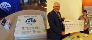 A very welcome cake, and Vance receives a cheque from Martina Marks