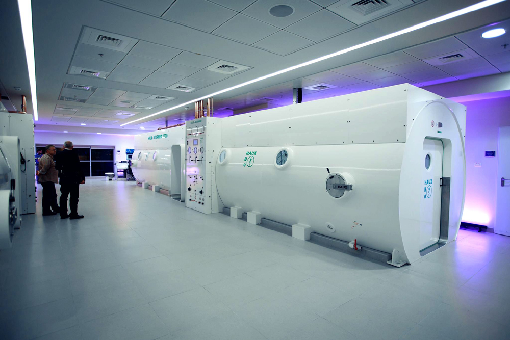 Two 20-seat hyperbaric chambers at the Sagol Center were used in the study (Credit: Sagol Center for Hyperbaric Medicine and Research, Israel)