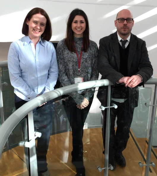 Dr Claire Hutchinson, Rachel Wilson (MPhil student) and Dr Kevin Paterson from the University of Leicester