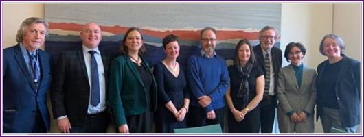 Text Box: Carol Monaghan MP, Dr Charles Shepherd with some of the MPs who attended, and the three research presenters (see below).
